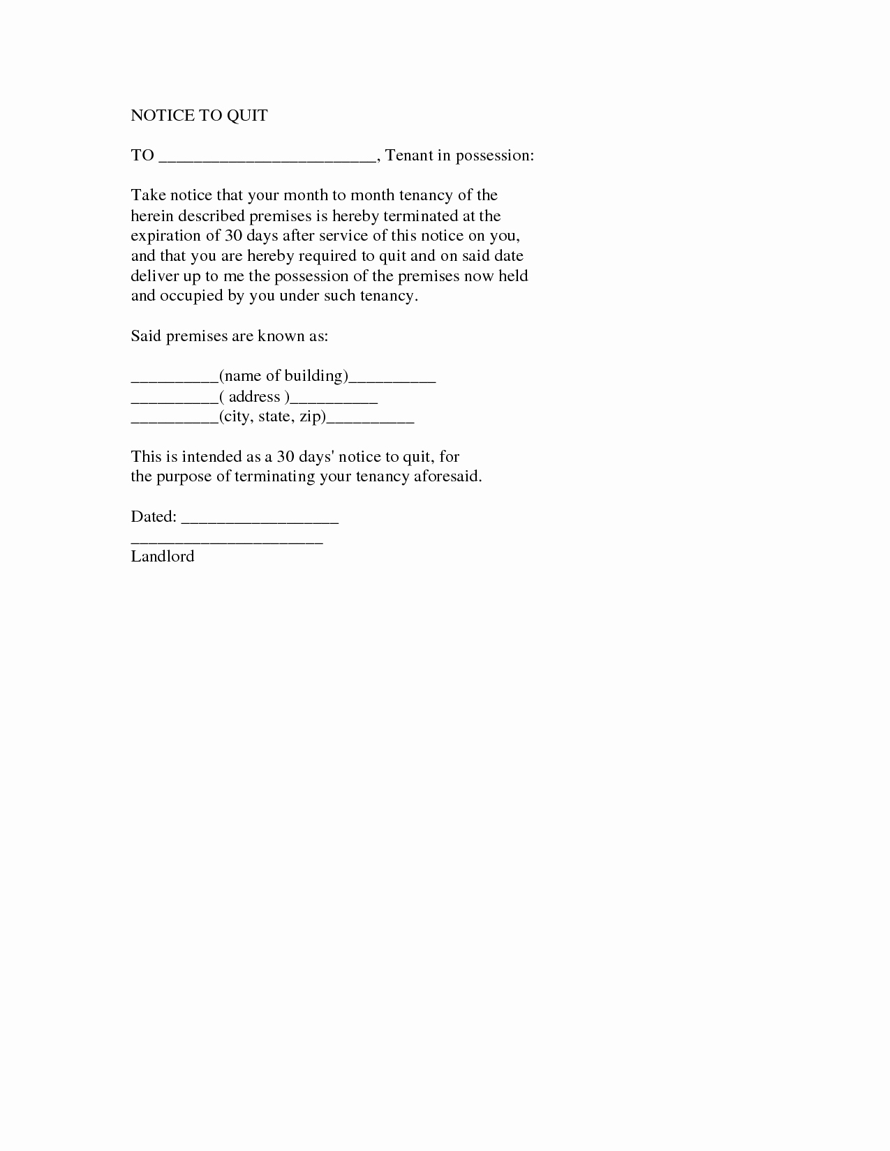 Two Weeks Notice Letter Template