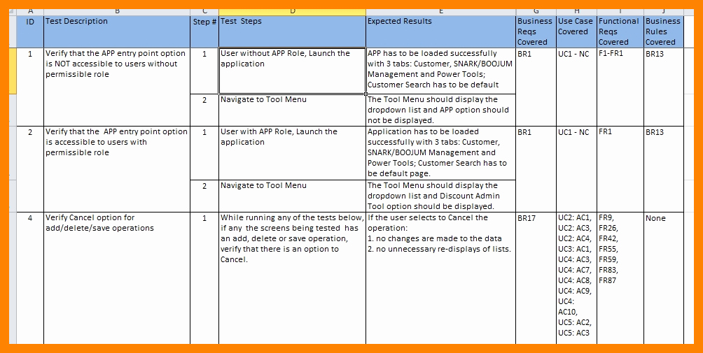 Uat Testing Template Excel