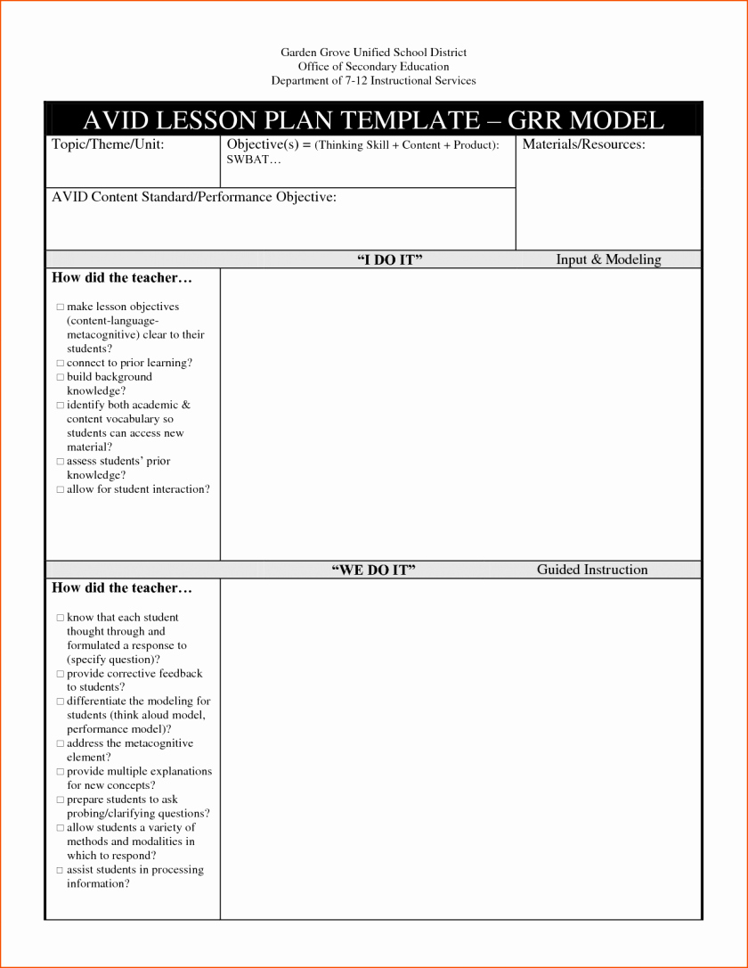 Ubd Template Lesson Plan Blank Planning Immaculate Heart