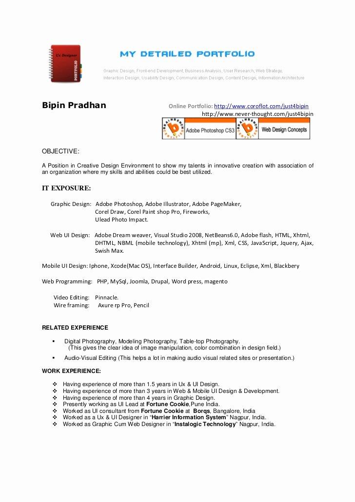 Ui Design Resume
