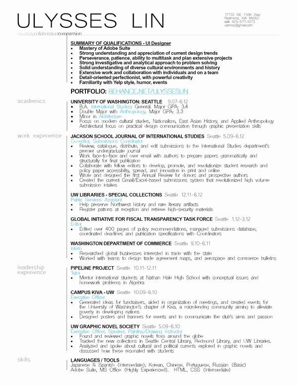 Ui Designer Resume Example Resumes Pinterest
