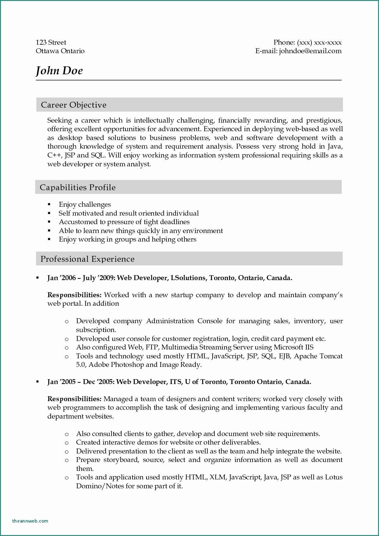 Ui Developer Resume Java Developer Sample Resume Ui