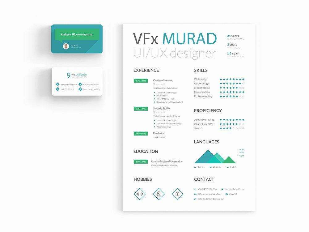 Ui Ux Designer Free Resume Template