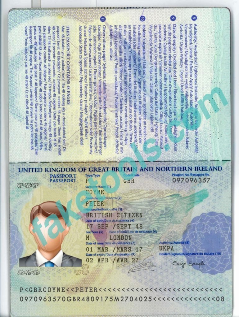 Uk Passport Psd Template File Fake Id Template