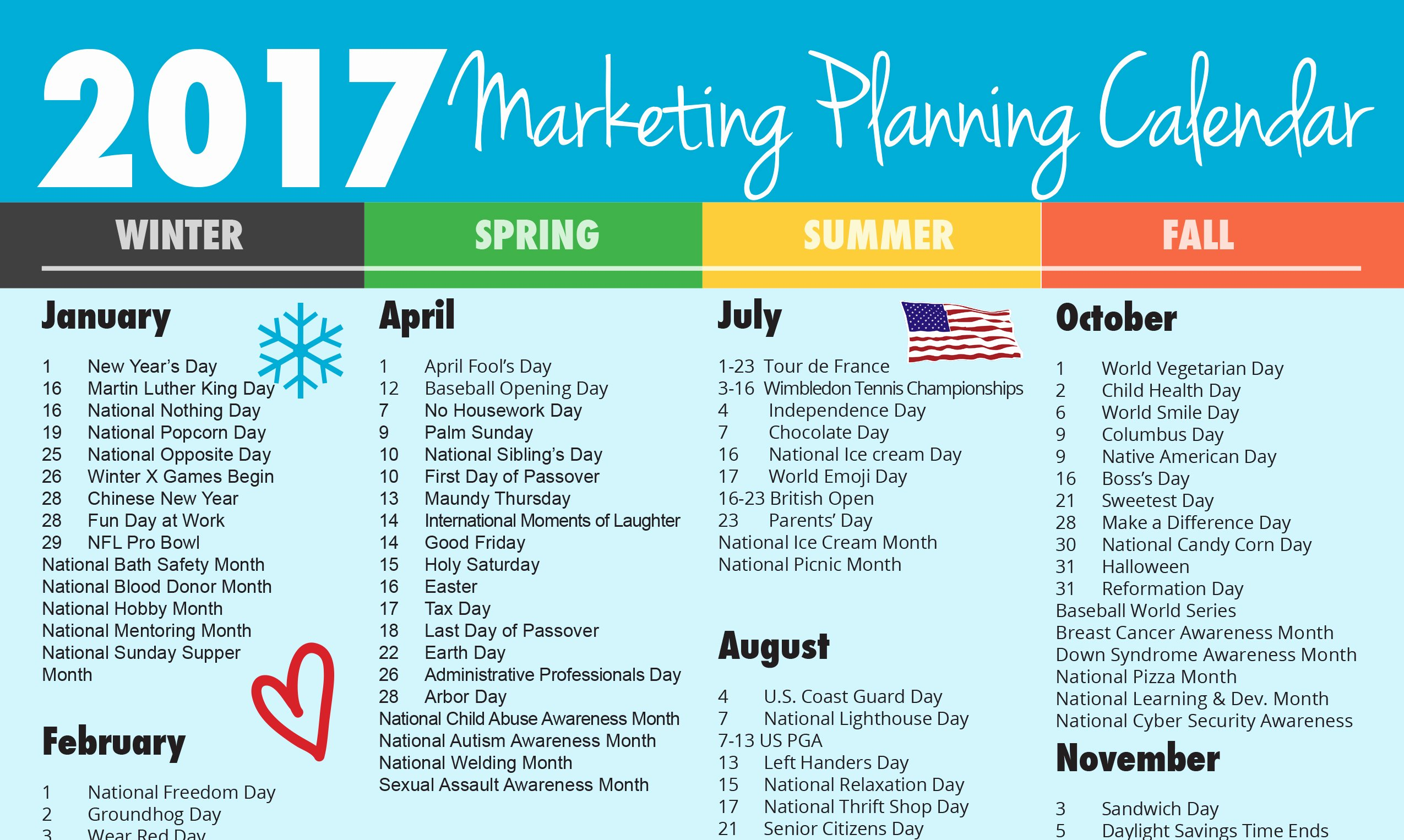 Ultimate 2017 Marketing Planning Calendar Rebecca