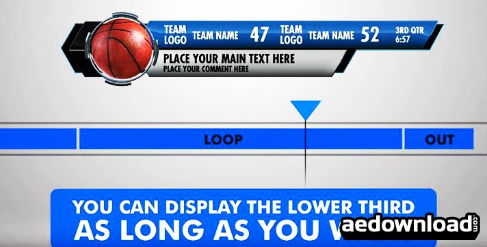 Ultimate Lower Third Sports Pack after Effects Template