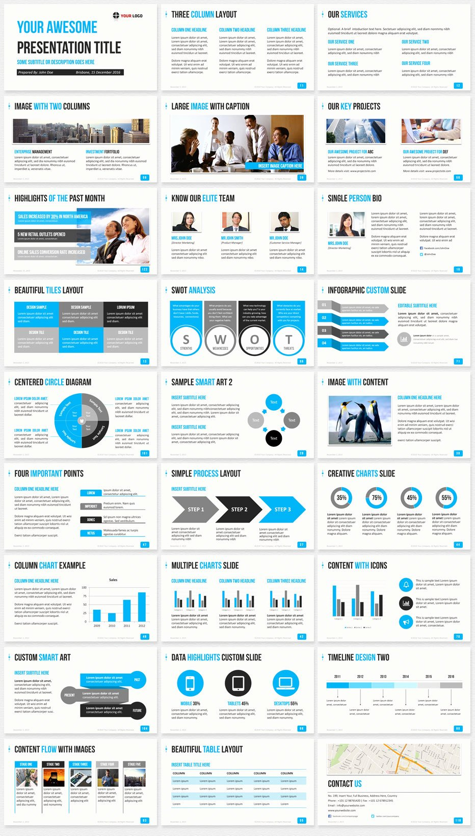 Ultimate Professional Business Powerpoint Template 1200