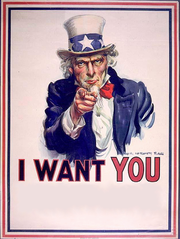 "Uncle Sam S ""i Want You"" Poster"
