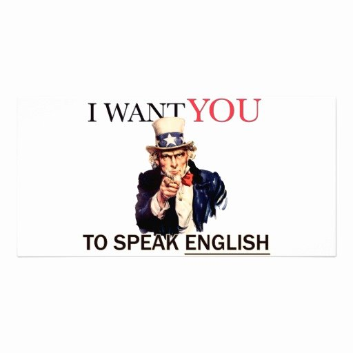 Uncle Sam Said I Want You to Speak English Greeting