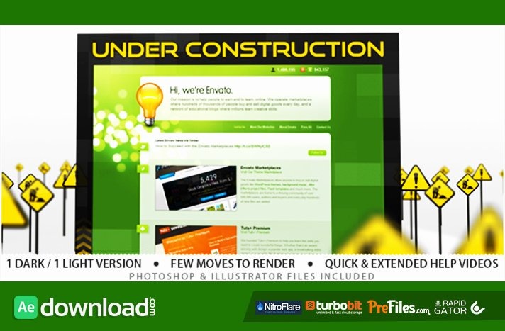 Under Construction Videohive Template Free Download