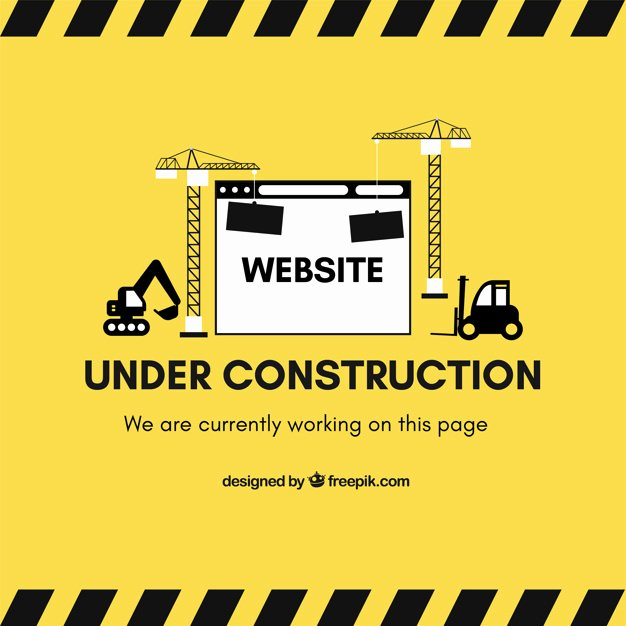 Under Construction Web Template In Flat Style Vector