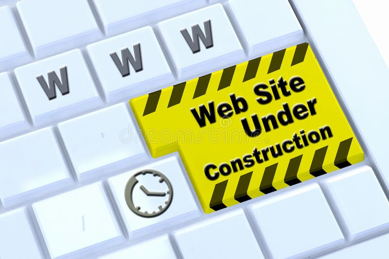 royalty free stock photo under construction website message enter key keyboard template image