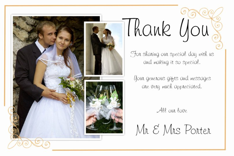 Unique Diy Wedding Thank You Card Ideas – Weddings by Helen