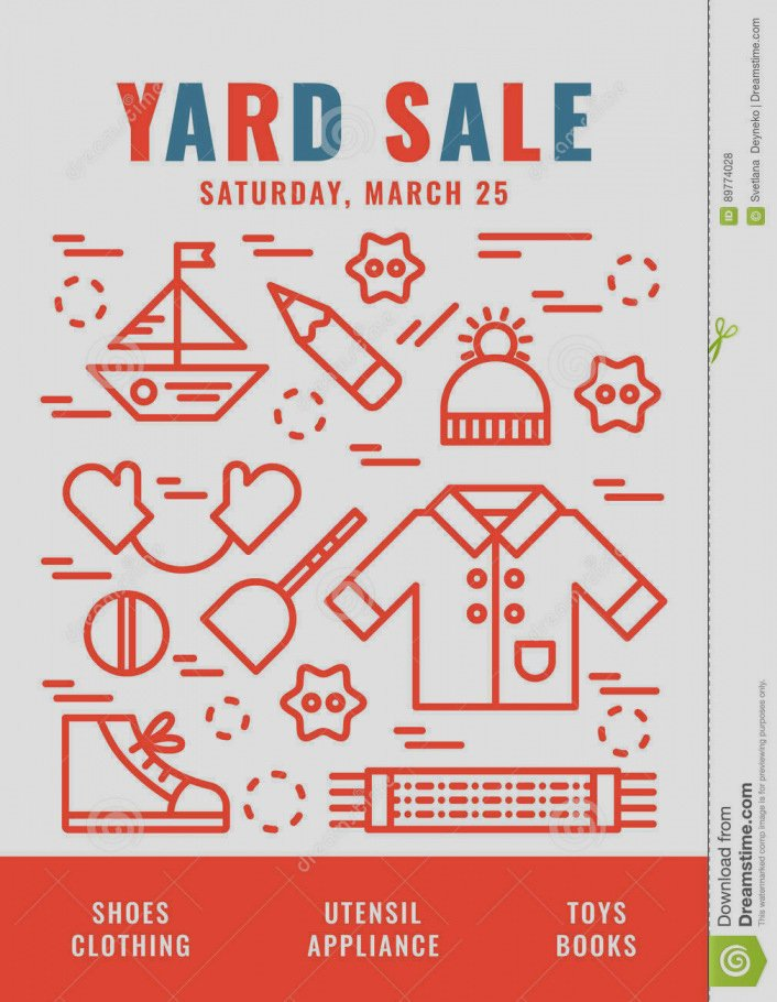 Unique Free Yard Sale Flyer Template Garage Word Write