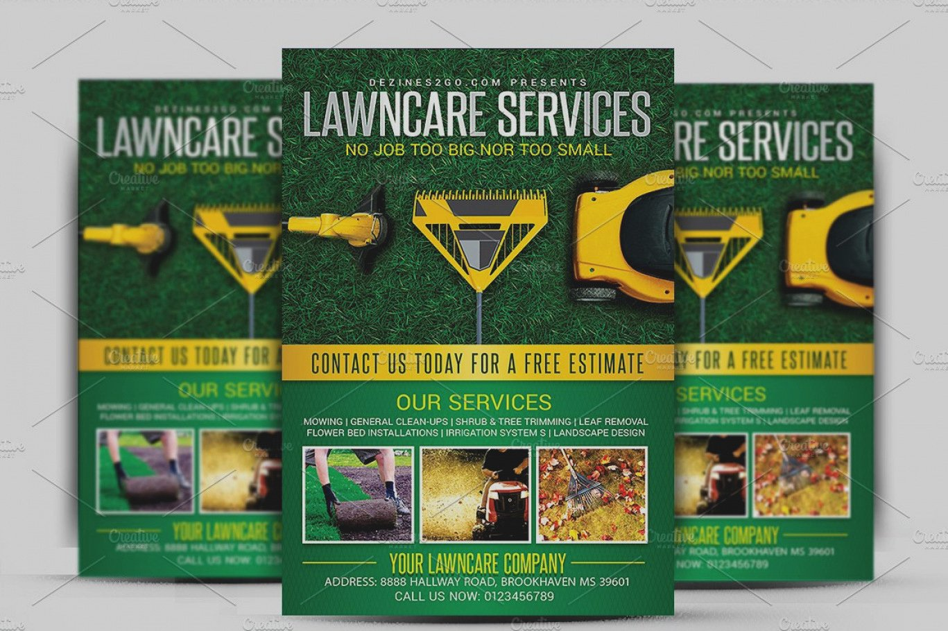 Unique Lawn Care Flyer Templates Free Template Business