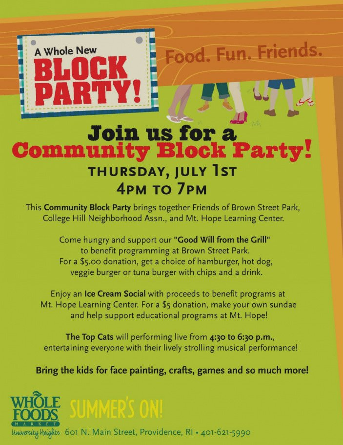 Unique Neighborhood Block Party Flyer Template Ideas