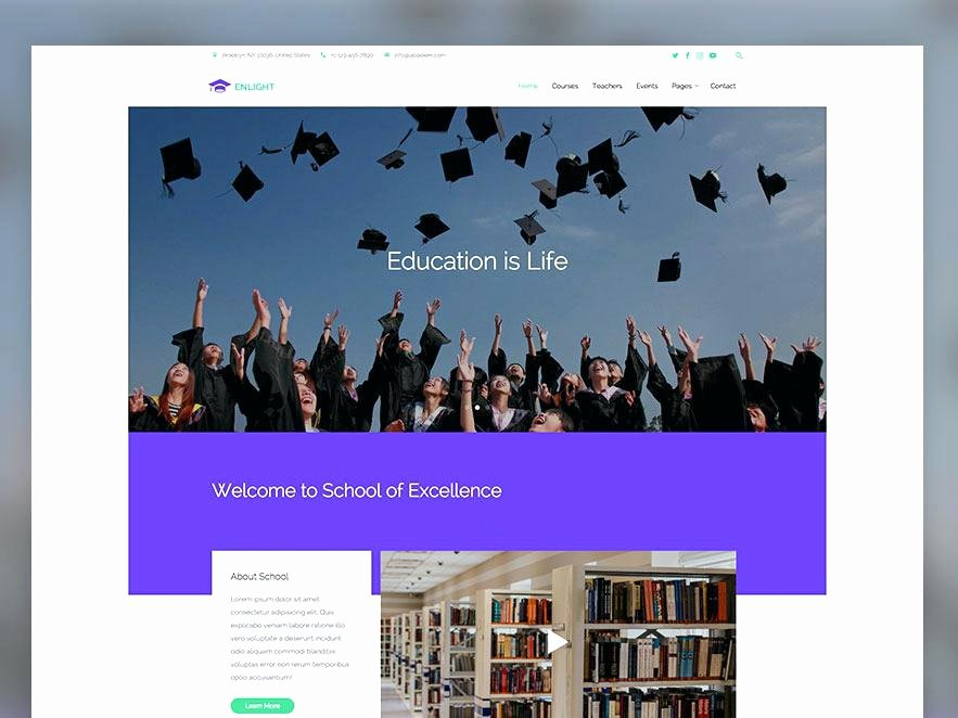 University A Educational Category Flat Bootstrap