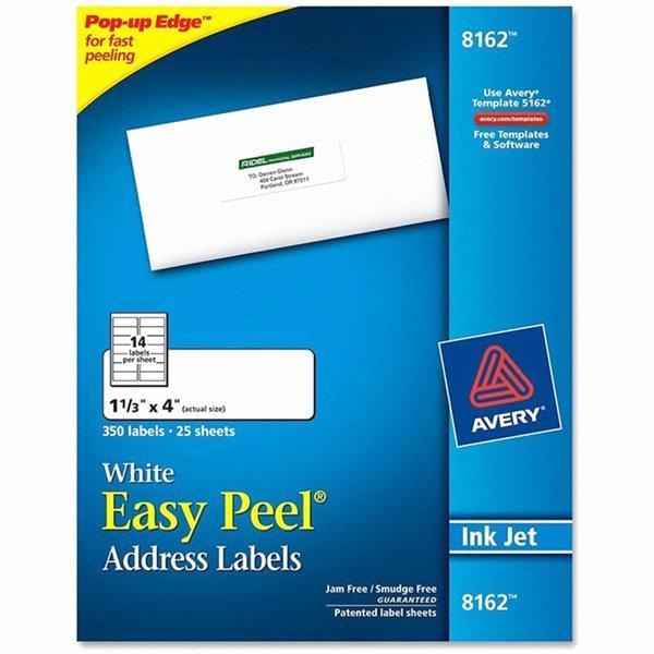 Upc Avery Dennison Easy Peel Ink Jet White