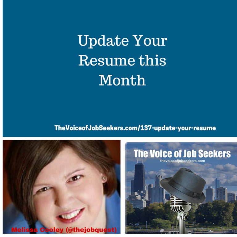 Update Your Resume This Month the Voice Of Job Seekers