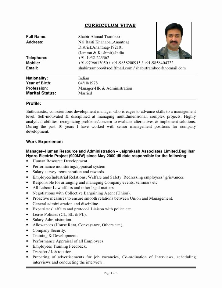 Updated Cv Shabir