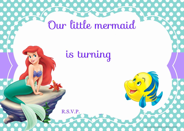 Updated Free Printable Ariel the Little Mermaid