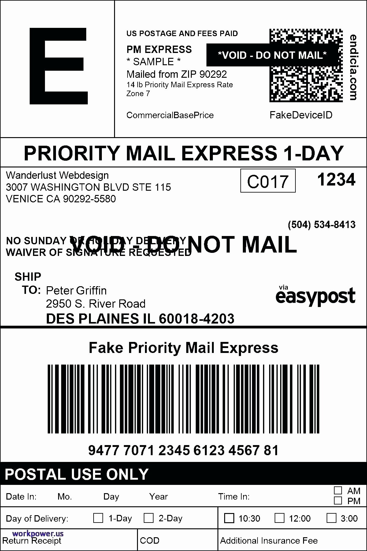 Ups Shipping Label Template Word Made by Creative Label
