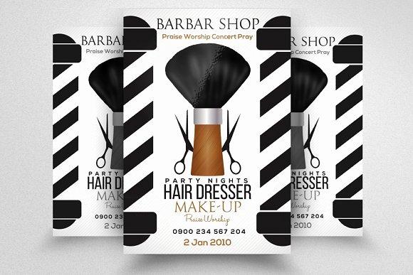 Urban Barber Flyer Designtube Creative Design Content