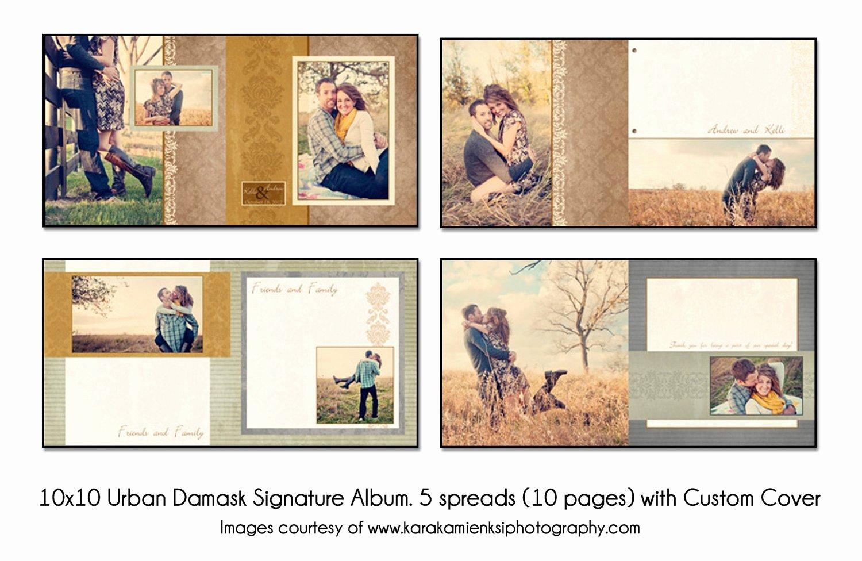Urban Damask 10x10 Digital Wedding Guest Book Template 5