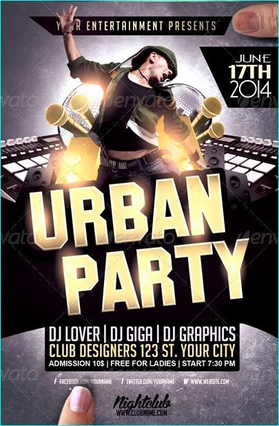 Urban Hip Hop Party Flyer Template Party Flyer Templates
