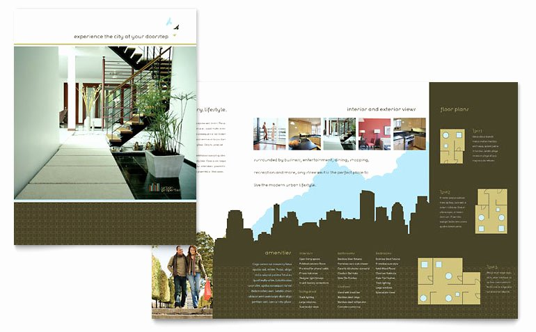 Urban Real Estate Brochure Template Word & Publisher