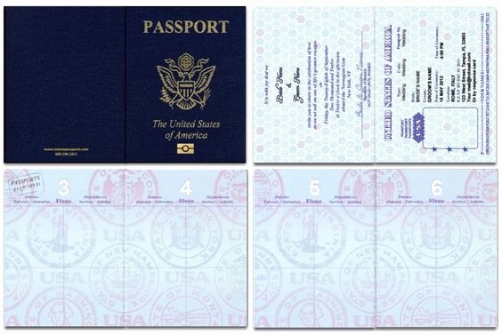Us Blank Passport Template Invitation Templates