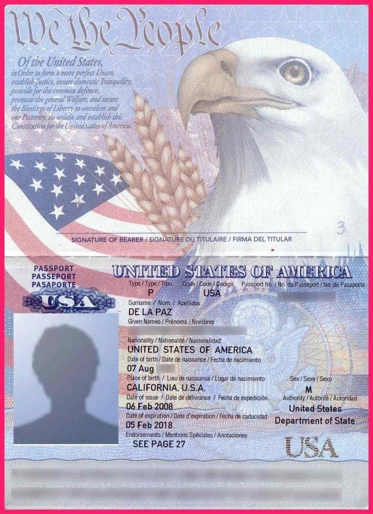 Us Passport Template Business Letters Visa Free Psd