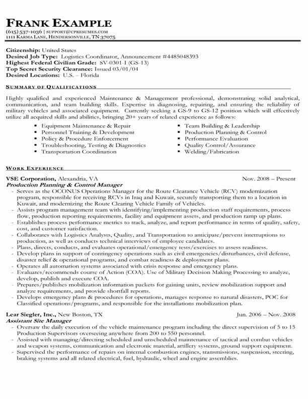 Usa Jobs Resume format