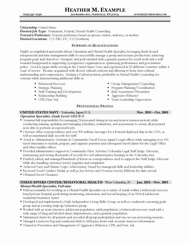 Usajobs Resume format