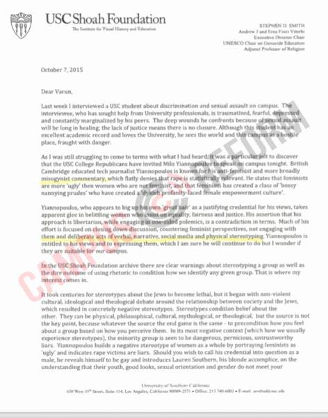 Usc Invitation Letter