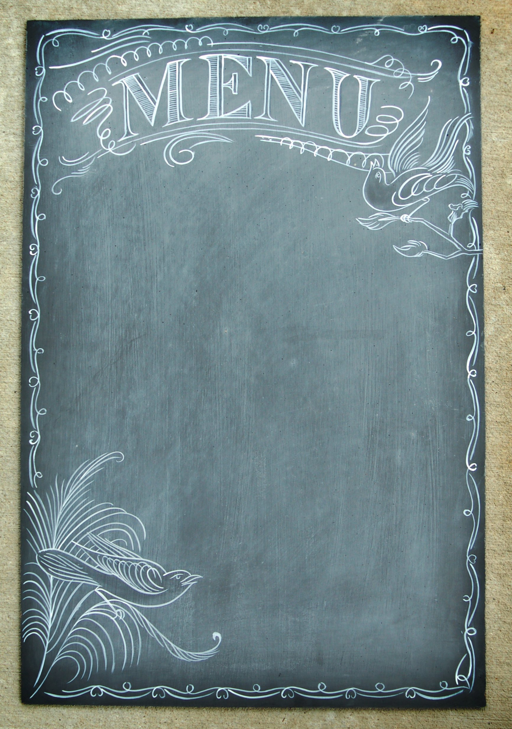 Use A Chalkboard Menu at Your Reception Instead Of