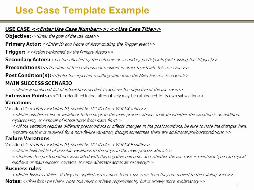 Use Case Template Reverse Search