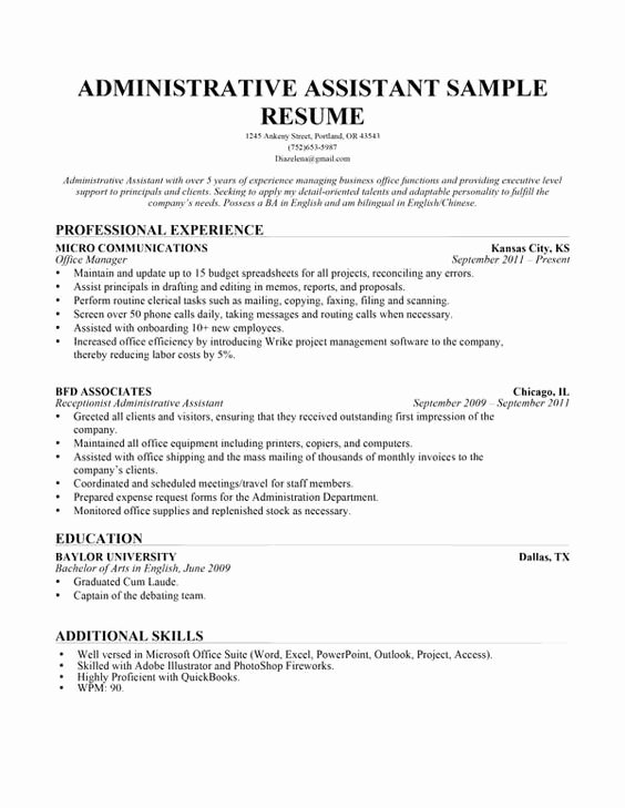 Use This Administrative assistant Resume Sample to Help