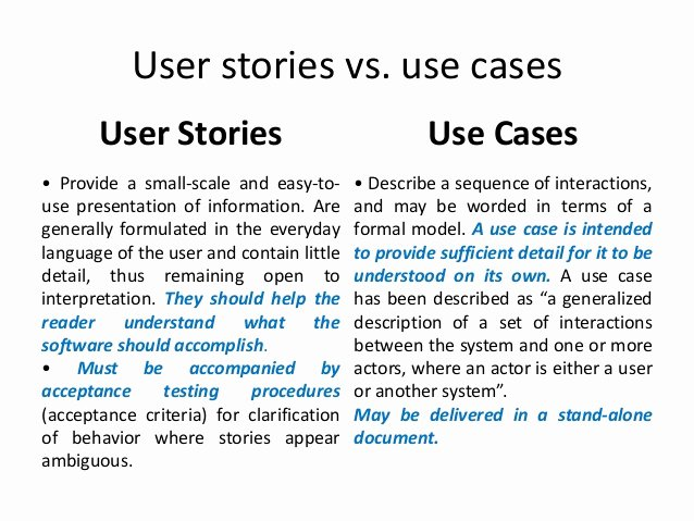 User Stories In Agile software Development