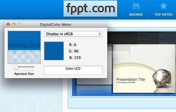 Using A Color Picker or Eye Dropper In Powerpoint 2011 for Mac