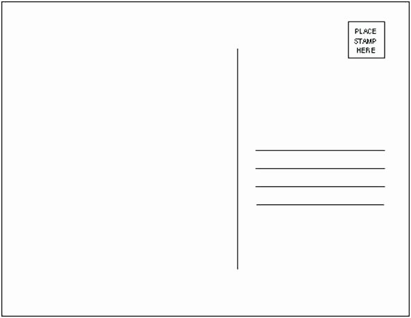 Usps Postcard Template 5×7 Postage Layout with Specs