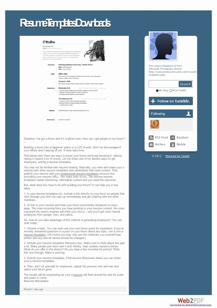 utilizing free resume templates in microsoft word 2007