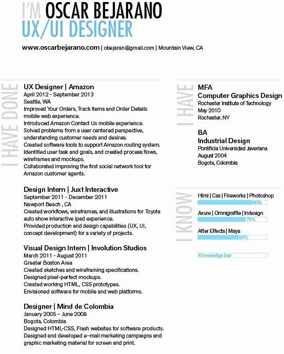 Ux Designer Resume Best Resume Collection