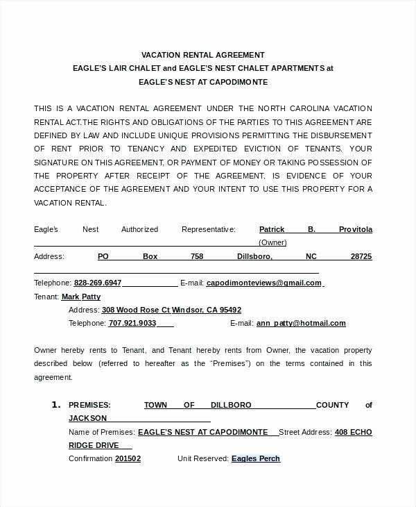 Vacation Rental Contract Template – Azserverfo