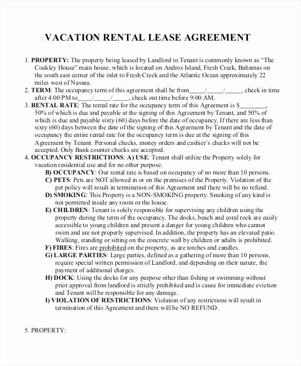Vacation Rental House Rules Template Templates Data