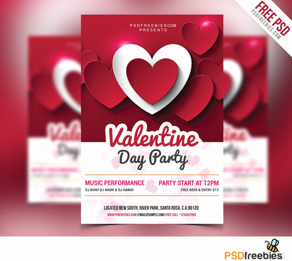 Valentine Day Party Flyer Free Psd Download Download Psd
