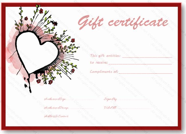 Valentine Gift Certificate Templates