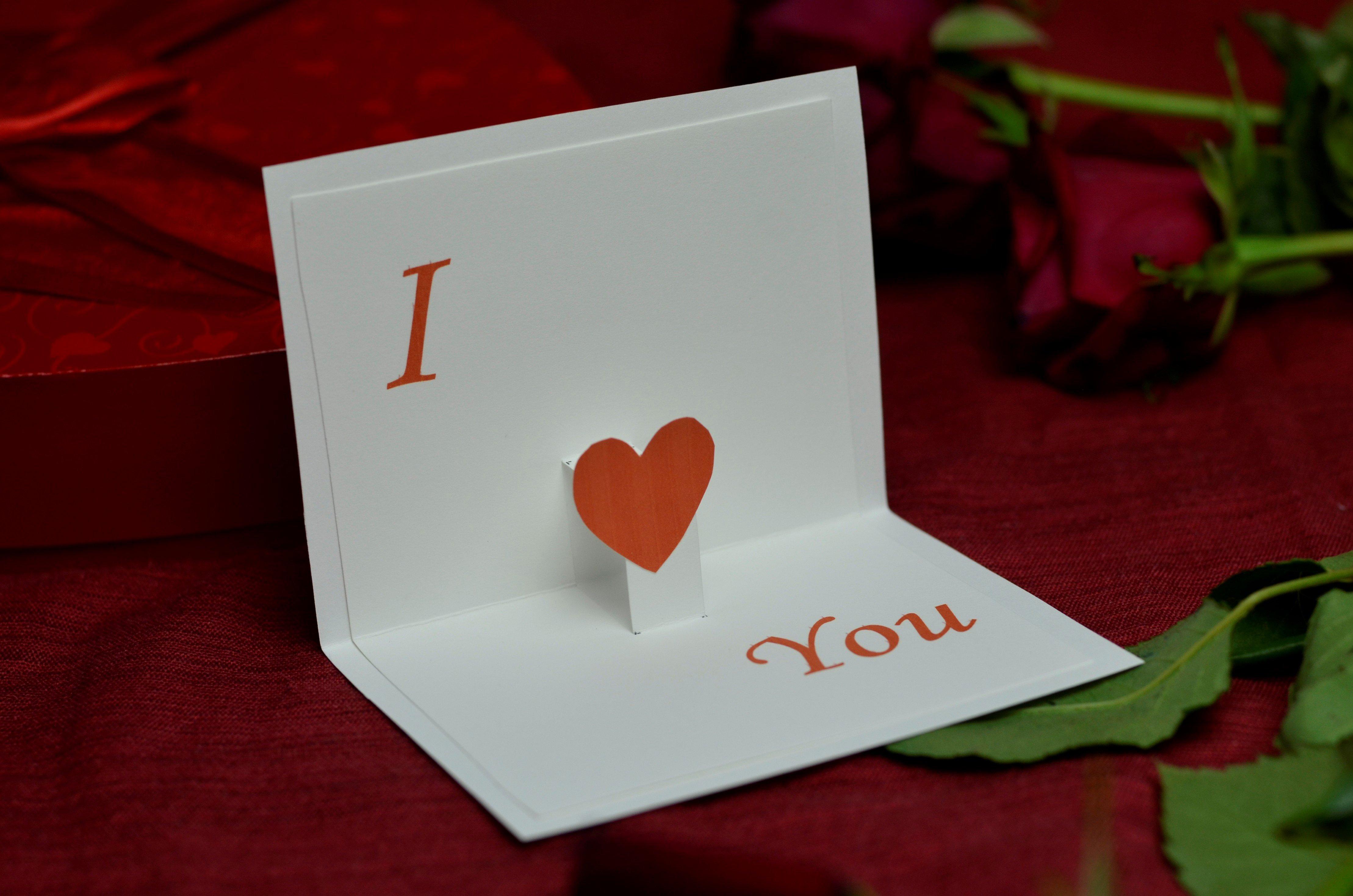Valentine S Day Free Pop Up Card Template Creative Pop