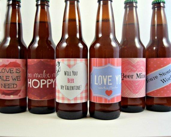 Valentines Day Beer Labels Printable