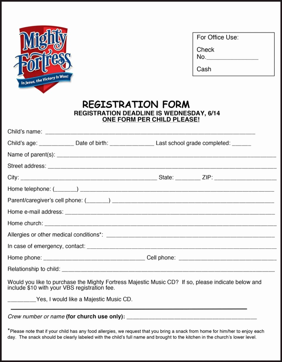 Valley Christian Preschool Download Registration form